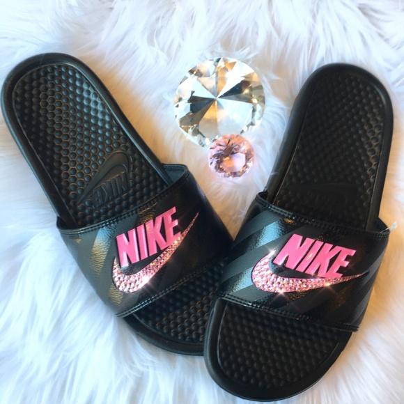 Bling Nike Benassi JDI Slides w Swarovski Crystals 0d2925ba0